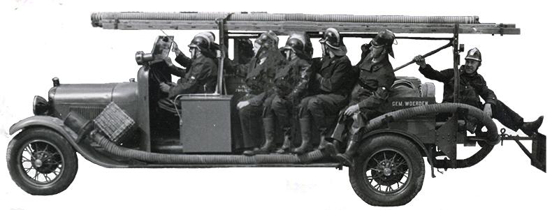 Ouwe brandweerauto Woerden