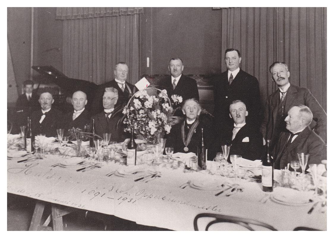 15 januari 1931 40 jarig jubileum-Opperbrandmeester Nic. Blok