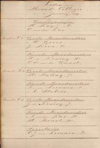 7 Ledenlijst Brand College 1 januari 1849