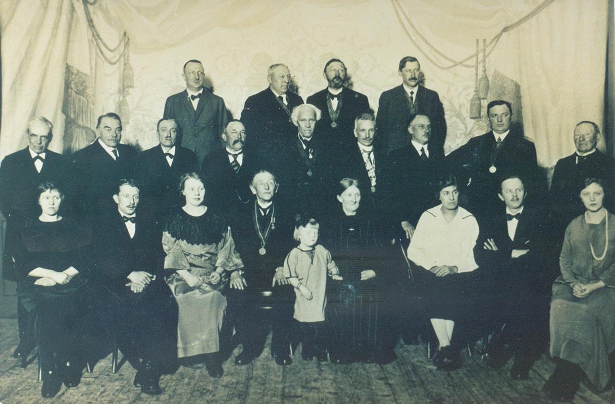 Opperbrandmeester Nic. Blok met familie 15 januar 1931
